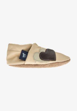 First shoes - apricot / beige / dunkelbraun
