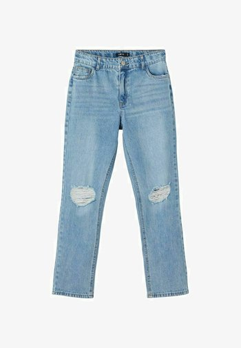 HIGH WAIST - Slim fit jeans - light blue denim