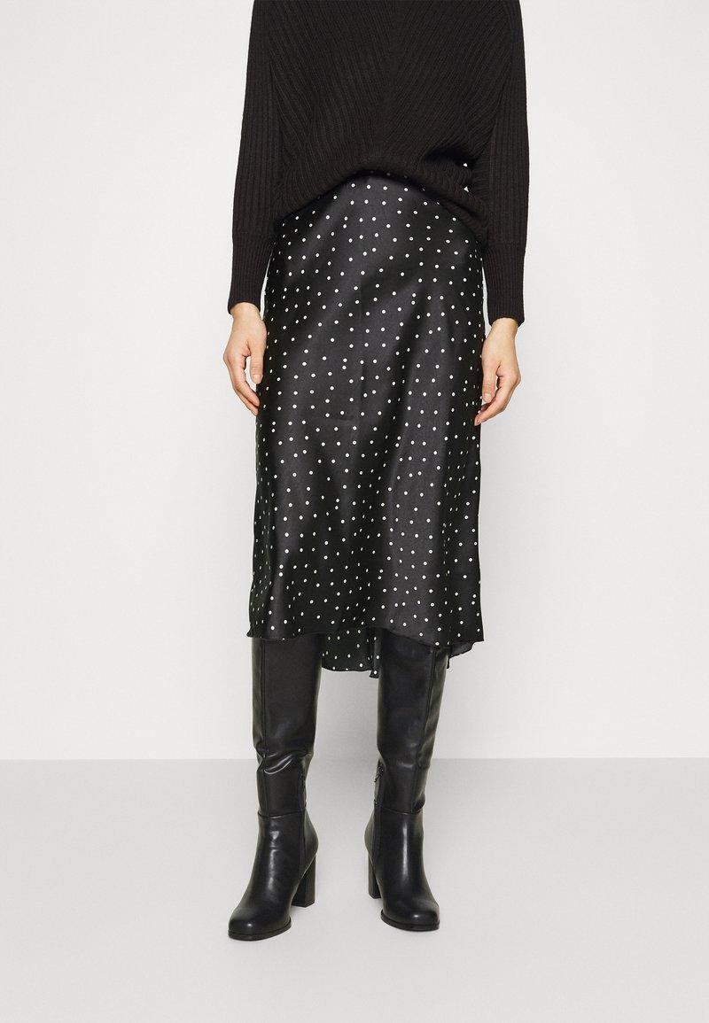 Abercrombie & Fitch - MIDI SKIRT - A-line skirt - black