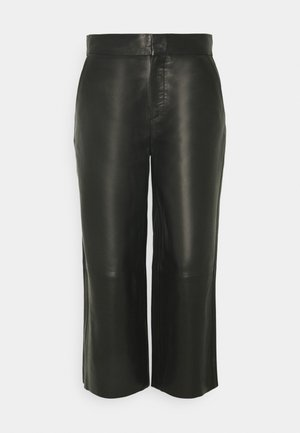 CULOTTE FORWARDED SIDE SEAMS - Trousers - pure black
