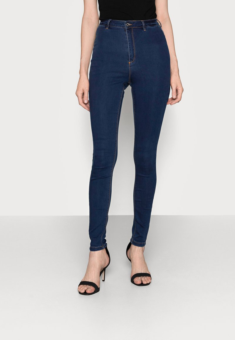 Missguided Tall - VICE HIGHWAISTED WITH BELT LOOPS - Jeans Skinny Fit - indigo