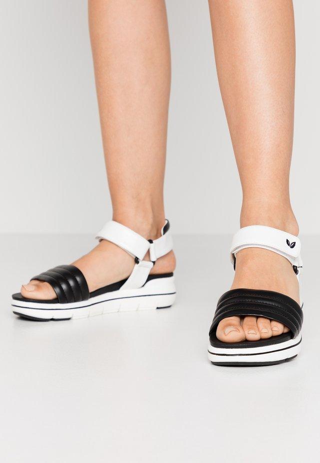 Platform sandals - black/white