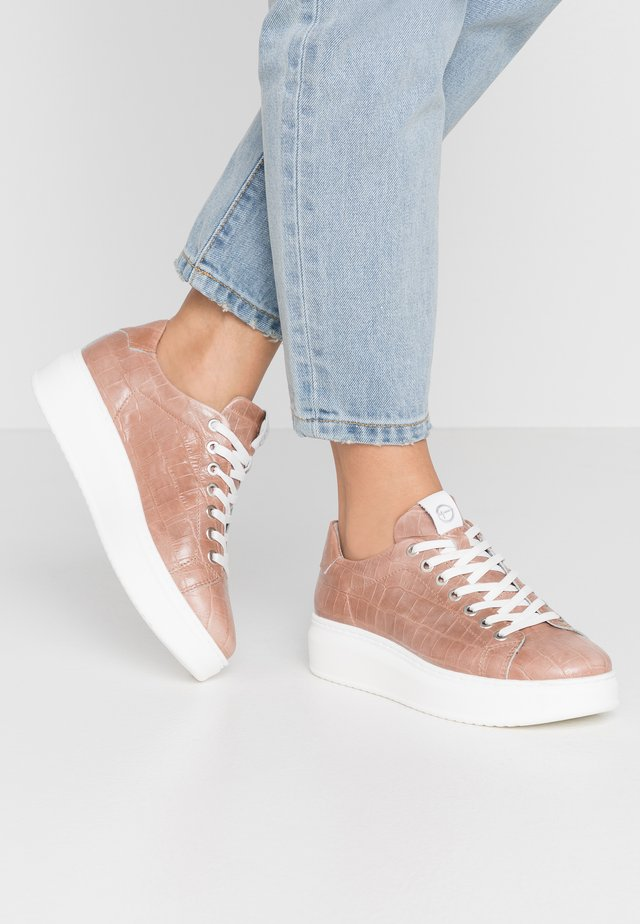LACE-UP - Sneakers laag - mauve