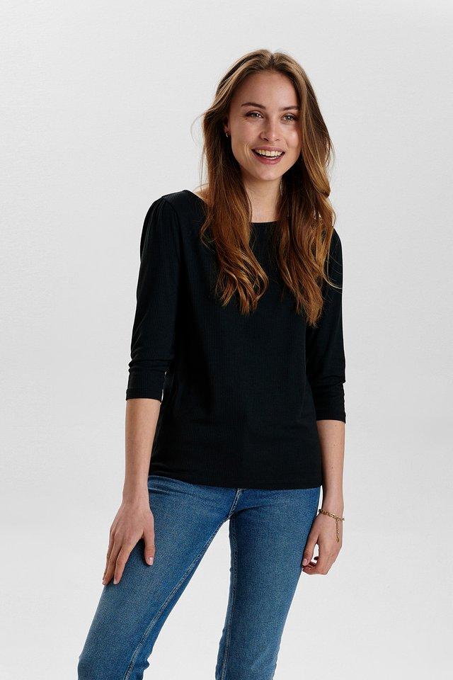 NUDARI  - T-shirt à manches longues - caviar