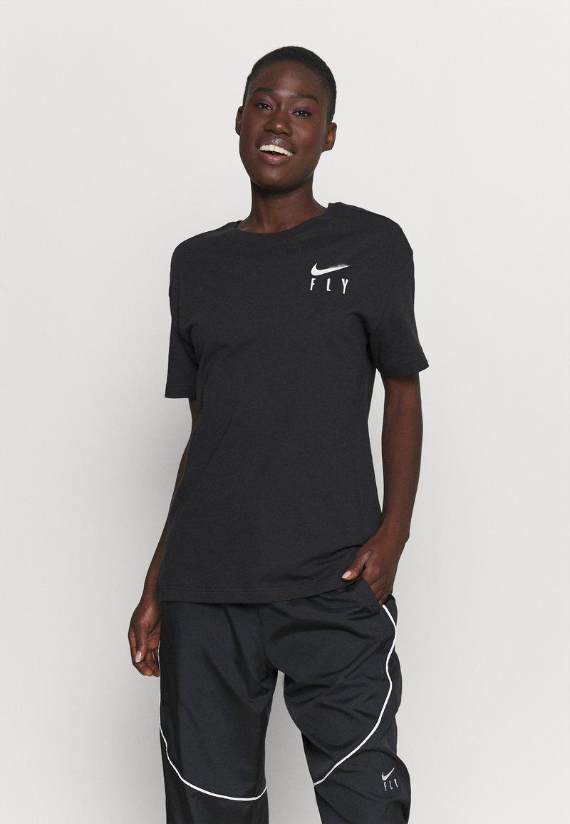 Nike Performance - BOY TEE - Triko spotiskem - black