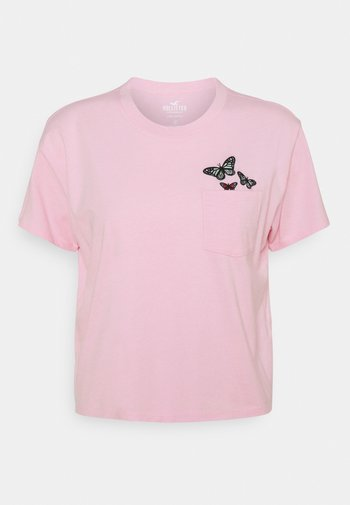 TEE - T-shirts med print - pink
