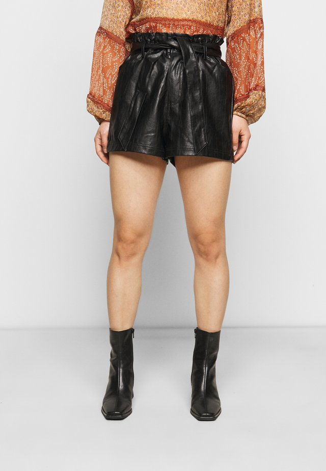 PAPERBAG SHORT - Shorts - black