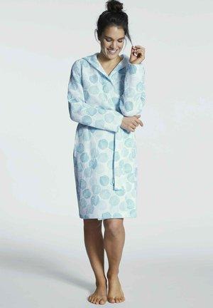 Dressing gown - topaz blue print