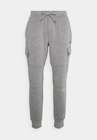 DOUBLE-KNIT CARGO JOGGER - Tracksuit bottoms - classic grey heather