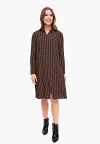 Triangle - CRÊPE-KLEID - Shirt dress - brown aop - 6
