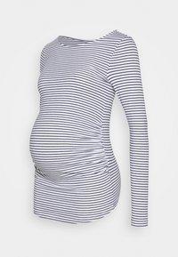 Anna Field MAMA - 2 PACK - Bluzka z długim rękawem - white/navy - 1