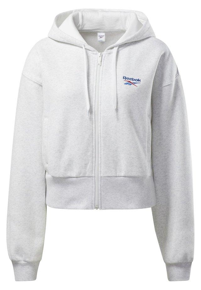 CLASSICS VECTOR HOODIE - veste en sweat zippée - white