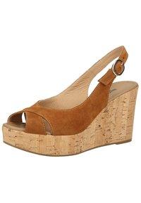 NeroGiardini - High heeled sandals - tabacco - 1