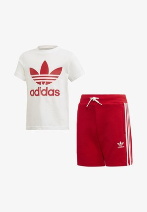 TREFOIL SHORTS TEE SET - Kraťasy - red/white