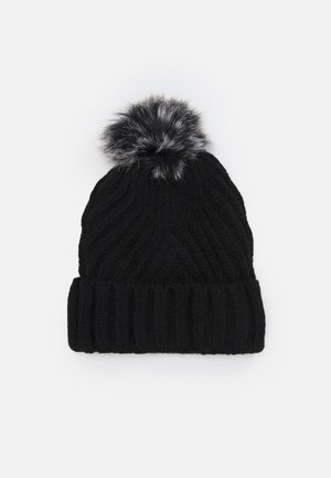 GEO BOBBLE HAT - Bonnet - black