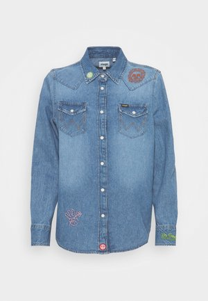 BOYFRIEND WESTERN - Košile - light blue denim