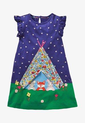 MIT AUFKLAPPMOTIV - Jersey dress - segelblau, zelt