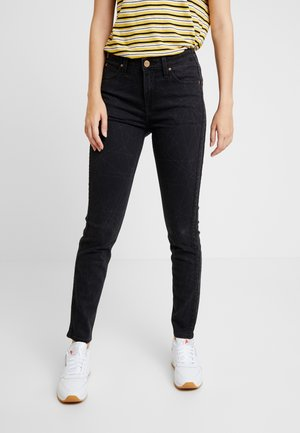 SCARLETT HIGH SIDEPANEL - Jeans Skinny Fit - black denim