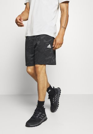 SHORTS - Sports shorts - black/white