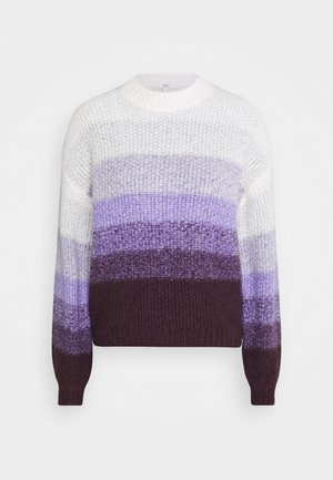 STRIPED - Jumper - lilac