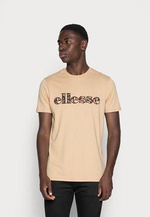 CRATER TEE - Camiseta estampada - beige