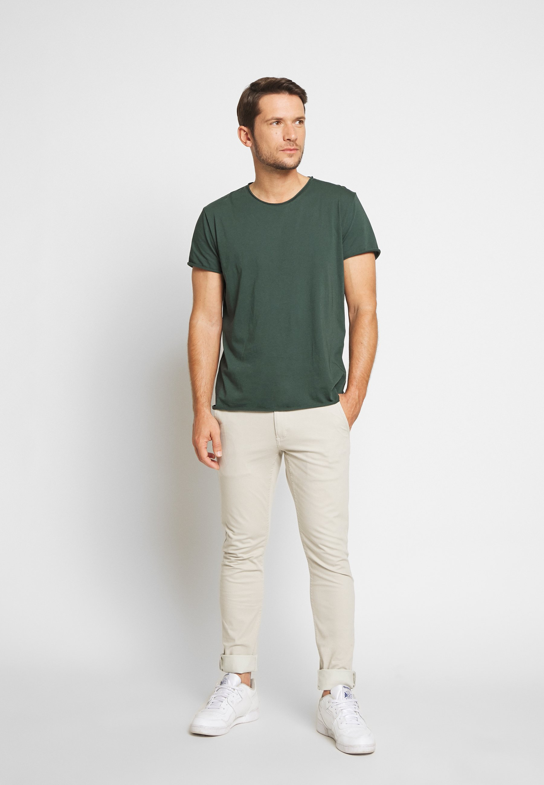 Filippa K ROLL NECK TEE - T-shirt basique - crocodile
