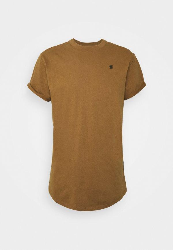 G-Star LASH ROUND SHORT SLEEVE - T-shirt basic - oxide ocre/ochra Odzież Męska GEYS