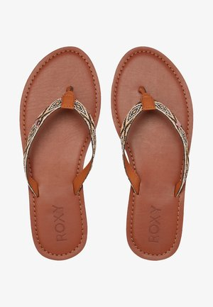 JANEL - T-bar sandals - brown