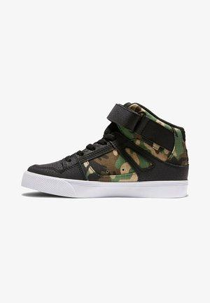 Sneakers hoog - black camo
