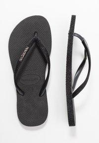 Havaianas - SLIM FIT SPARKLE - T-bar sandals - black - 0