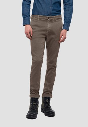 ZEUMAR HYPERFLEX  - Slim fit jeans - brown