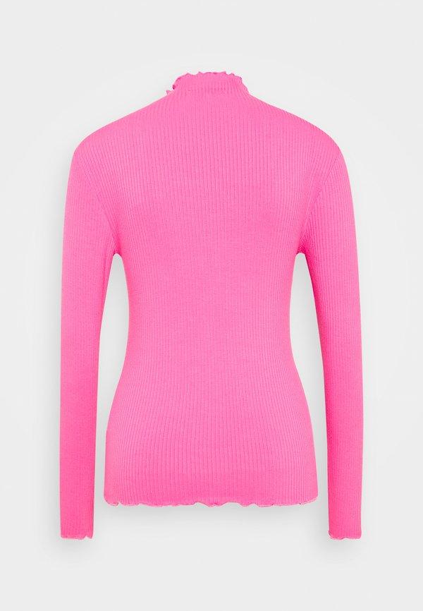 b.young BYTOELLA - Bluzka z długim rękawem - shocking pink Kolor jednolity Odzież Damska KZNC VI 8