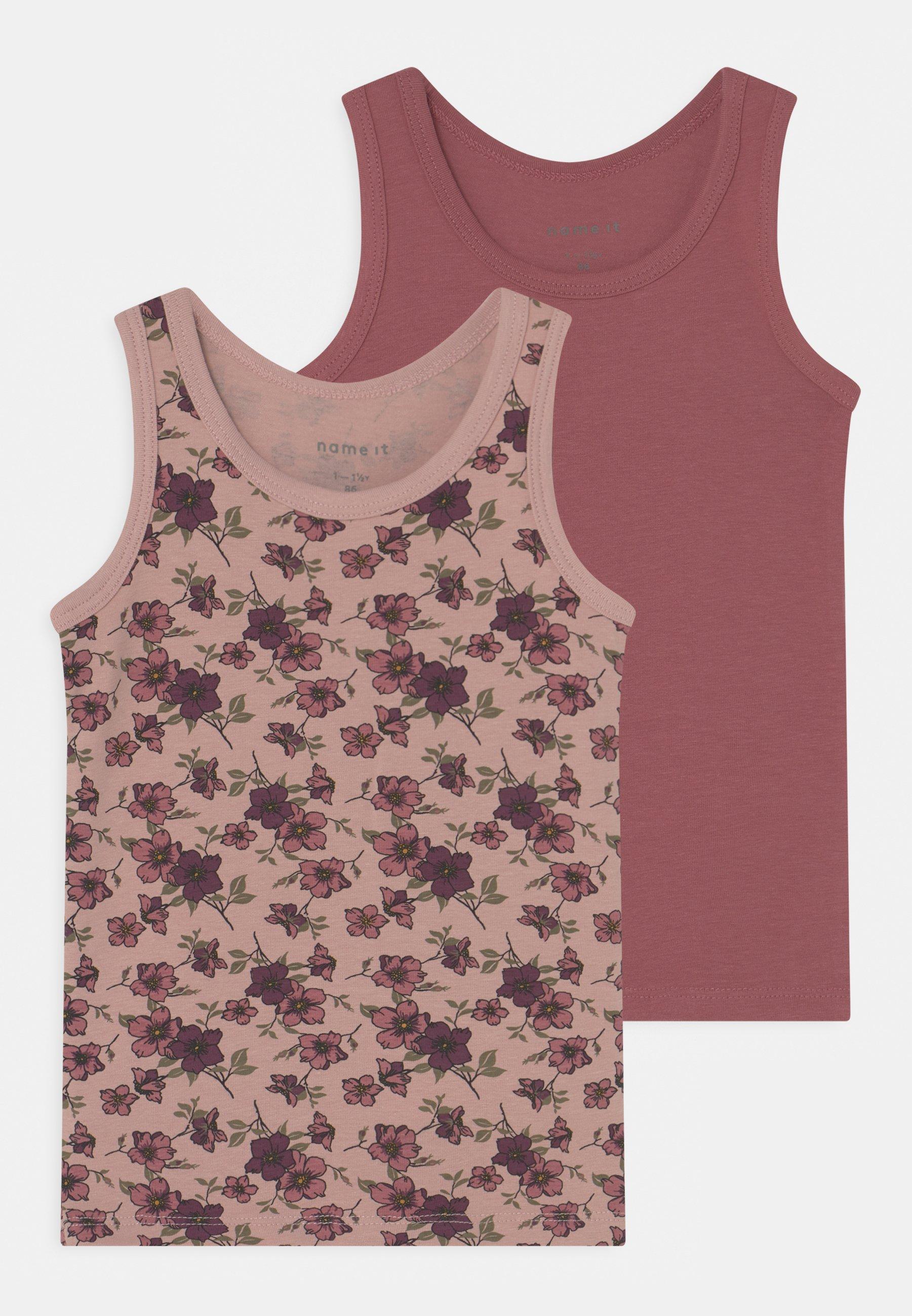 Kids NMFTANK DECO ROSE FLOWER 2 PACK - Undershirt