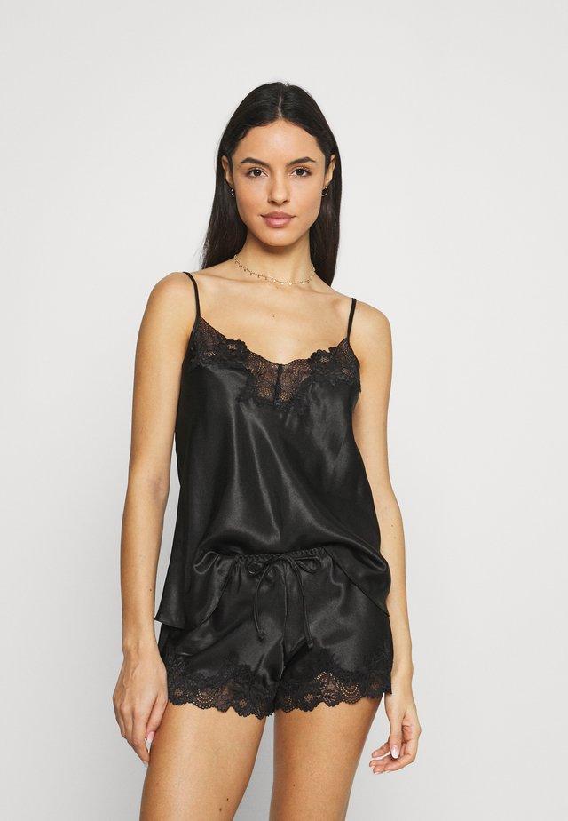 DARCIE TRIM CAMI SET - Pyjamas - black