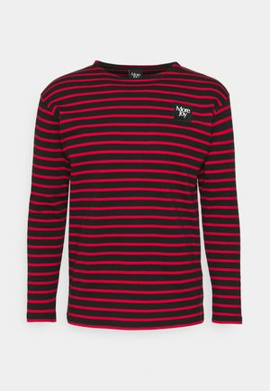 BRETON STRIPE LONG SLEEVE UNISEX - Long sleeved top - black/red