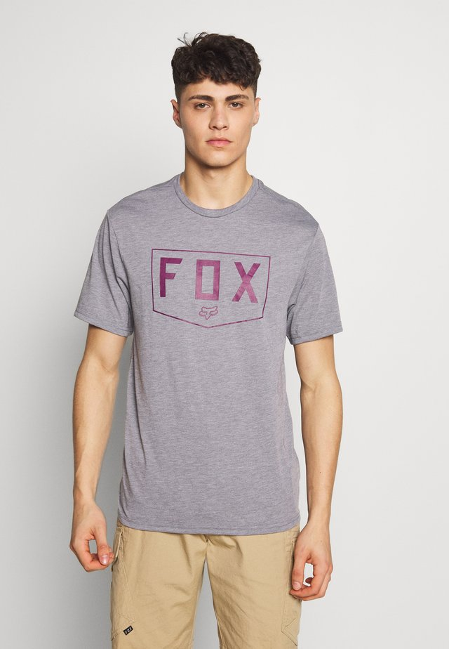 SHIELD TECH TEE - T-shirt imprimé - grey