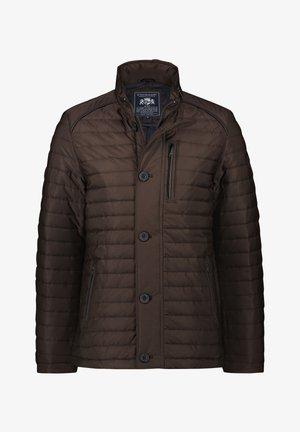 Winter jacket - dark brown/midnight