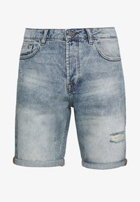 ONSAVI LOOSE  - Denim shorts - blue denim