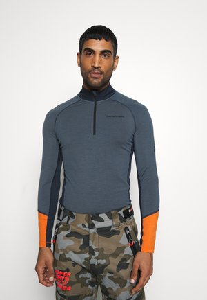 MAGIC HALF ZIP - Long sleeved top - blue steel