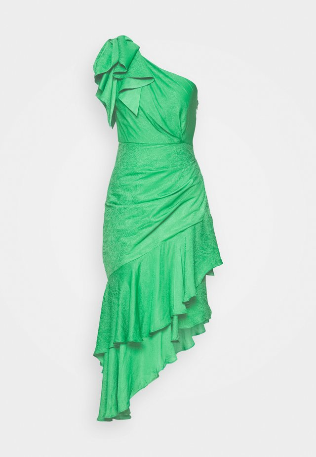 ELODIE RUFFLE MIDI DRESS - Day dress - parrot green