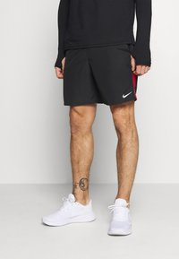 Nike Performance - RUN SHORT - Sports shorts - black/university red/reflective silver - 0