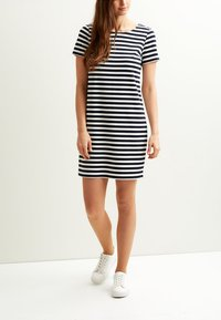 Vila - VITINNY  - Jersey dress - snow whites tripe/total eclipse - 0