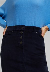 Esprit - PENCIL SKIRT - Pencil skirt - navy - 0