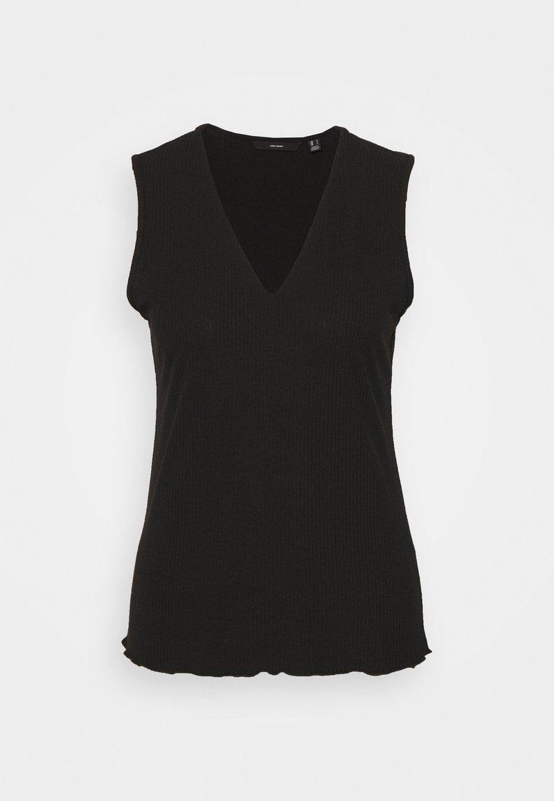 Vero Moda Tall - VMFRANCA V NECK  - Top - black