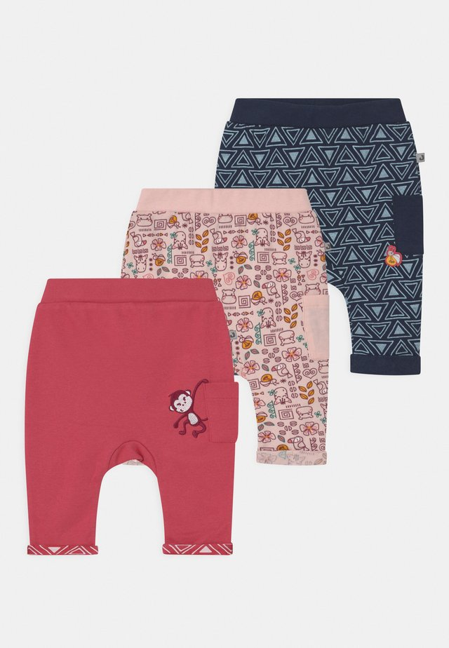 JUNGLE GIRL 3 PACK - Broek - light pink/dark blue