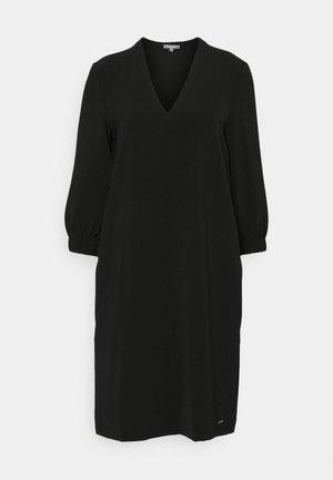 DRESS FEMININE SLEEVES ELASTIC - Kjole - deep black