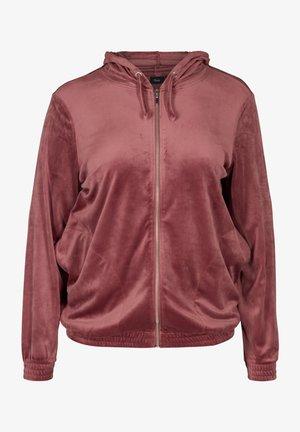 MIT REISSVERSCHLUSS  - Zip-up sweatshirt - pink