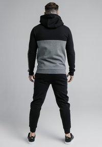 SIKSILK - CUT AND SEW ZIPTHROUGH HOODIE - Zip-up hoodie - black/grey marl - 2