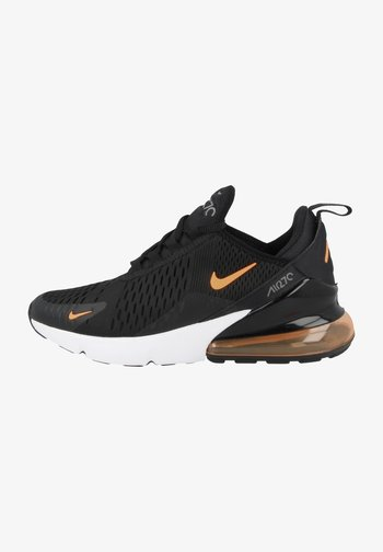 Sneakers laag - black-total orange-smoke grey-white