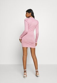 Missguided Petite - PUFF SLEEVE MINI DRESS - Shift dress - rose - 2